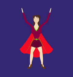 super hero woman flat poster in comic style vector image
