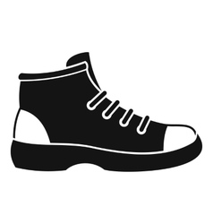 Tourist shoe icon simple style vector