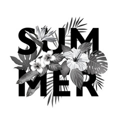 tropical paradise summer vector image