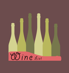 wine list design vector image