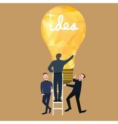 working together teamwork make ideas success light vector image vector image