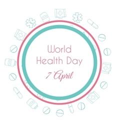 World health day Hand drawn medical vector image vector image