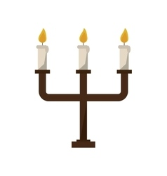 Isolated chandelier with candles design vector image