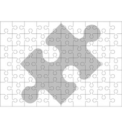 Stencil of puzzle pieces vector