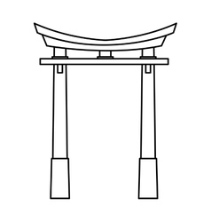 Isolated china arch design vector