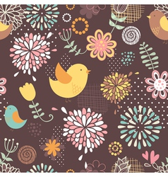 Summer lovely floral seamless pattern vector