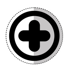 Medical cross isolated icon vector