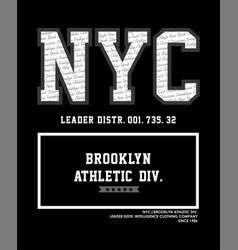 Nyc brooklyn athletic vector