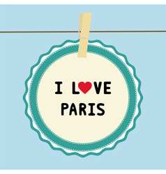 I love paris2 vector