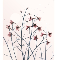 Romantic wild flowers composition vector