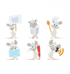 Cute mouse vector