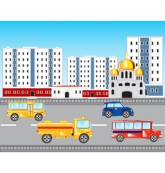 Car road in city vector