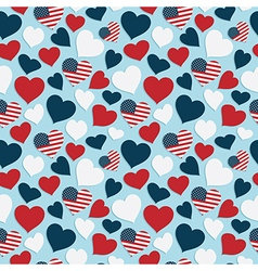 Usa heart pattern vector
