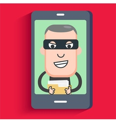 Hacker phone data vector