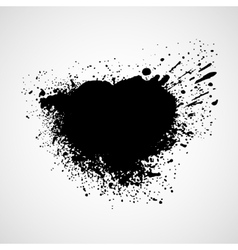 Black grungy design elements vector