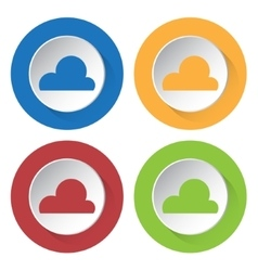 Set of four icons - cloud cloudy vector