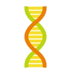 Flat dna and molecule symbol vector