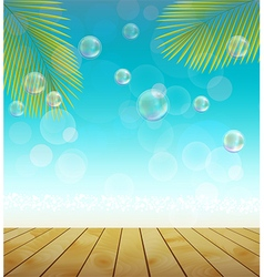 Natural background landscape of palm tree vector
