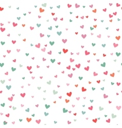 Romantic pink and blue heart pattern vector