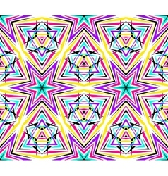 Thin kaleidoscope star pattern vector