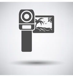 Video camera icon vector