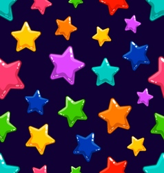 Seamless pattern with colorful star vector