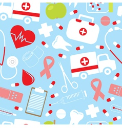 Colorful medical pattern vector
