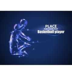 Motion design basketball player blur and light vector