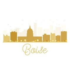 Boise city skyline golden silhouette vector