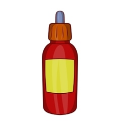 Refill bottle with pipette icon cartoon style vector