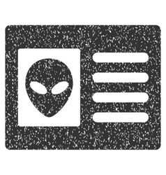 Alien account card grainy texture icon vector