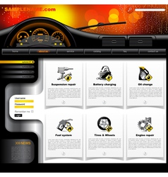 Automobile Service Website Template vector image vector image