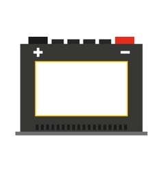 Battery car isolated icon design vector