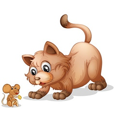 Cat and mouse vector image