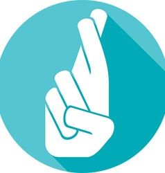 Crossed fingers icon vector
