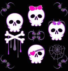 emo skulls vector image vector image