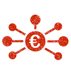 Euro relations icon grunge watermark vector