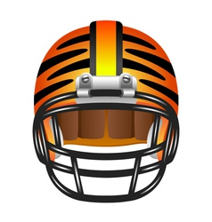 Football helmet with tiger stripes vector image vector image