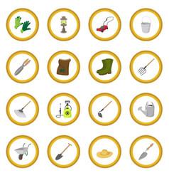Garden cartoon icon circle vector