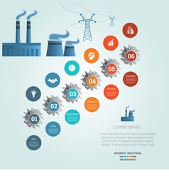 Industrial infographic 6 vector