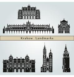 Krakow landmarks and monuments vector