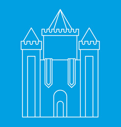 medieval castle icon outline style vector image vector image