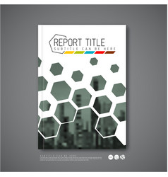 modern abstract brochure book flyer design vector image vector image