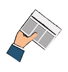 Newspaper info article vector
