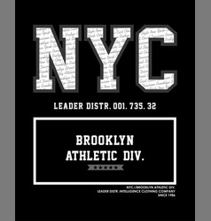 nyc brooklyn athletic vector image vector image