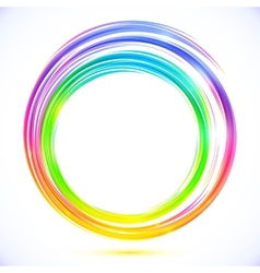 Rainbow abstract circle frame vector image vector image