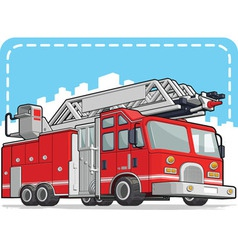 Red Fire Truck or Fire Engine vector image vector image