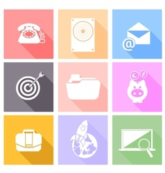 Set icons for web and mobile applications vector