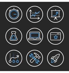 Set of engine optimisation icons vector image