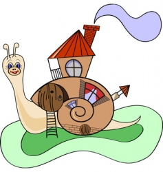snail house vector image